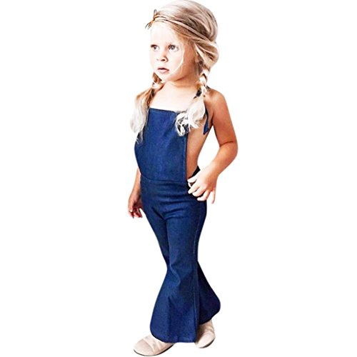 0466645acc6e Zomup Summer Toddler Kids Baby Girls Backless Denim Jumpsuit ...