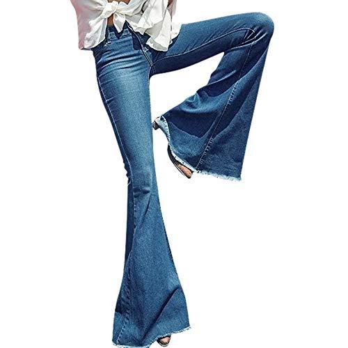 60371c53a86 Yalasga Women s Juniors Classic Hippie High Waist Wide Leg Flare ...